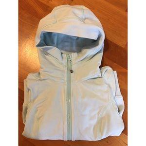 Lululemon powder blue hooded zip up size 4